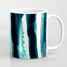 Abstract green and black painting Mug