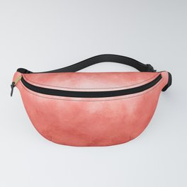 Bursting with Love - Living Coral Stripe Abstract Fanny Pack