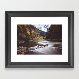 Dunajec River - Landscape and Nature Photography Framed Art Print