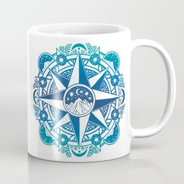 Journey to Moon Mountain | Turquoise Navy Ombré Coffee Mug