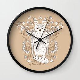 zen owl Wall Clock