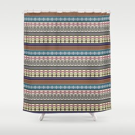 Modern Native Navajo Ethnic Tribal Pattern V.02 Shower Curtain