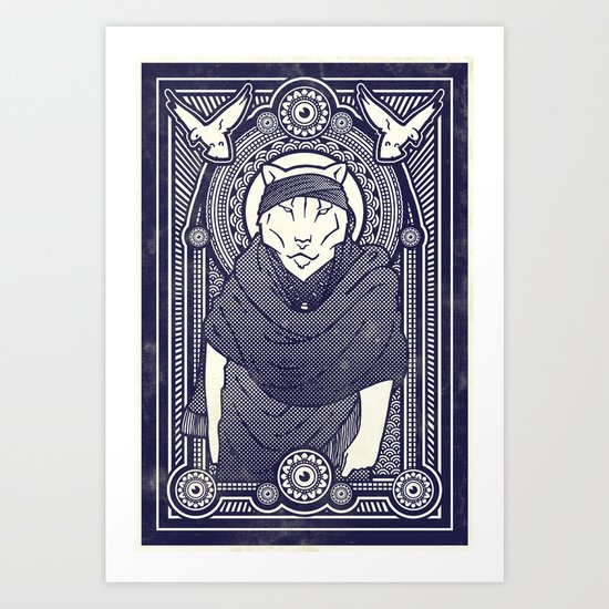 Visitor from the North Art Print