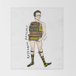 "Rupert ""Research"" Giles Pin up Throw Blanket"