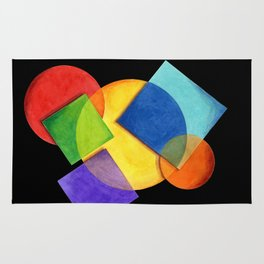 Rainbow Candy Geometric Rug