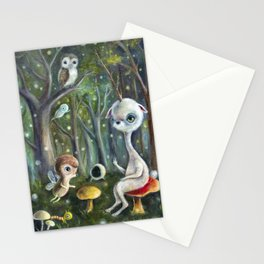 Uney & Friends in the Enchanted Forest Stationery Cards