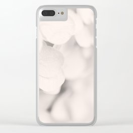 White Hydrangea Clear iPhone Case