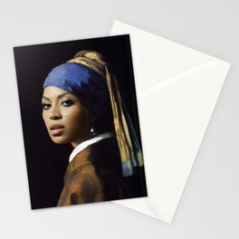 Bey with a Pearl Earring Stationery Cards
