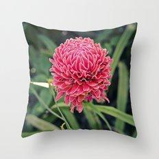 Tropical Flower: Thailand Throw Pillow
