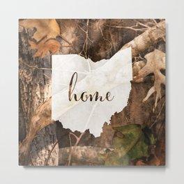 Ohio is Home - Camo Metal Print