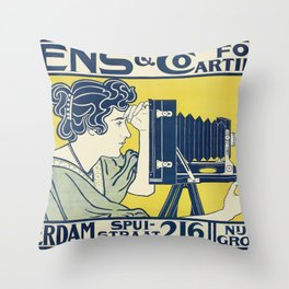 Vintage Camera Poster, 1899 Throw Pillow