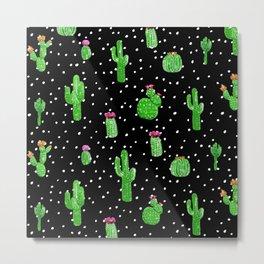 Dotted Cactus Metal Print