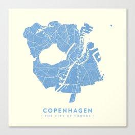 Copenhagen Map Canvas Print