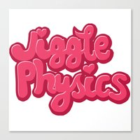 physics Canvas Prints featuring Jiggle Physics  by atherose