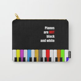 colorful piano - not black and white oil poster Carry-All Pouch