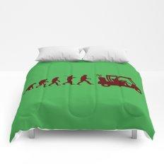 Evolution - golf Comforters