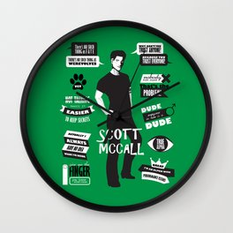 Scott Mccall Teen Wolf Quotes Wall Clock