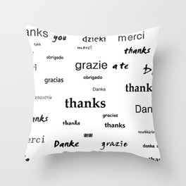 Thanks for living Throw Pillow