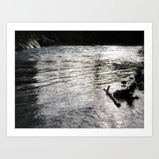 River at night Art Print