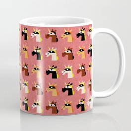 Masked Unicorns Pattern Coffee Mug