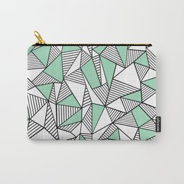 Abstraction Lines with Mint Blocks Carry-All Pouch