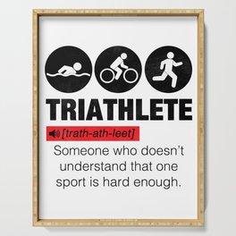 Funny Definition Triathlete Serving Tray
