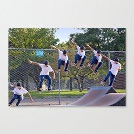 Adam Skateboarding  Canvas Print