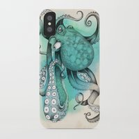 octopus iPhone & iPod Cases featuring Octopus by Emily Golden