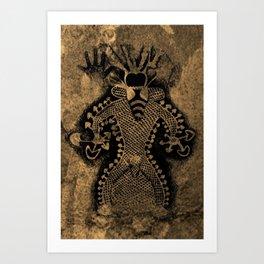 Mushroom Shaman Art Print