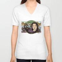 regina mills V-neck T-shirts featuring regina nouveau by raynall