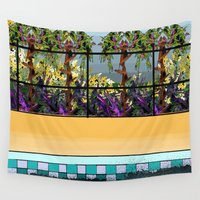 pool Wall Tapestries featuring Tropical Pool by Abstract Designs