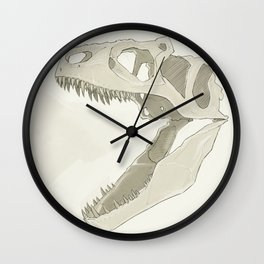Allosaurus skull Wall Clock