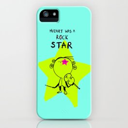 MOZART WAS A ROCK STAR (BLUE) iPhone Case