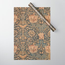 Honeysuckle by William Morris 1876 Antique Vintage Pattern, CC0 Spring Summer Wrapping Paper
