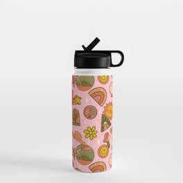 Fall Patch Print Water Bottle