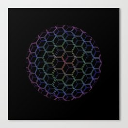 Rainhex Circle (Black) Canvas Print