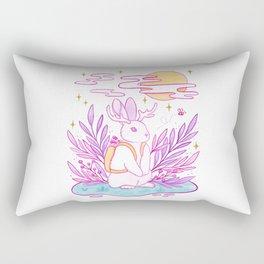 Plant Jackalope Rectangular Pillow