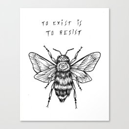 to exist is to resist Canvas Print
