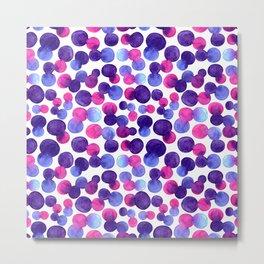 Brighr watercolor circles Metal Print