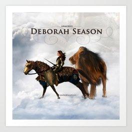 Deborah Season -Armored - David Munoz Prophetic Art Art Print