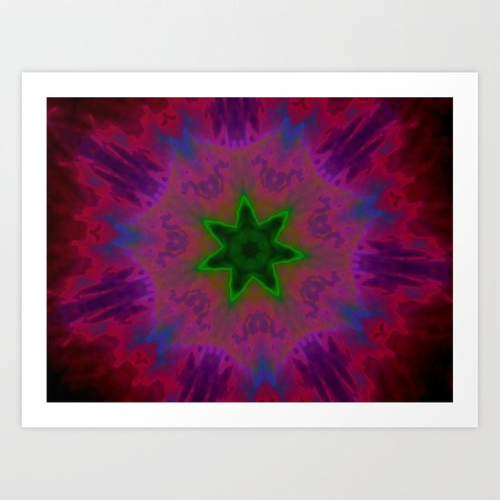 Kaleidoscope 'K1 SN' Art Print