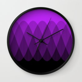 Purple to Black Ombre Signal Wall Clock