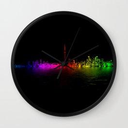 Toronto Rainbow Reflection Wall Clock