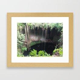 Mexico cenote Framed Art Print