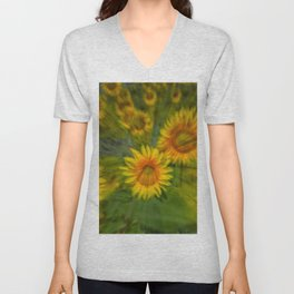 SUNFLOWERS 5 Unisex V-Neck