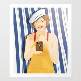 Madalin at the Beach Art Print