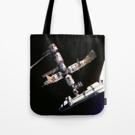Space Shuttle Space Station Mir Dock Tote Bag