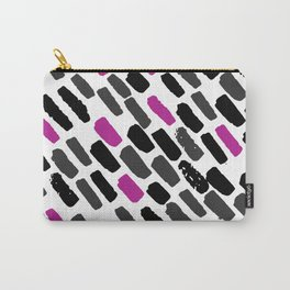 Oblique dots black and white hot pink Carry-All Pouch