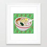ramen Framed Art Prints featuring Ramen by Charlton Yu