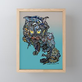 Dragon Cat (Color) Framed Mini Art Print